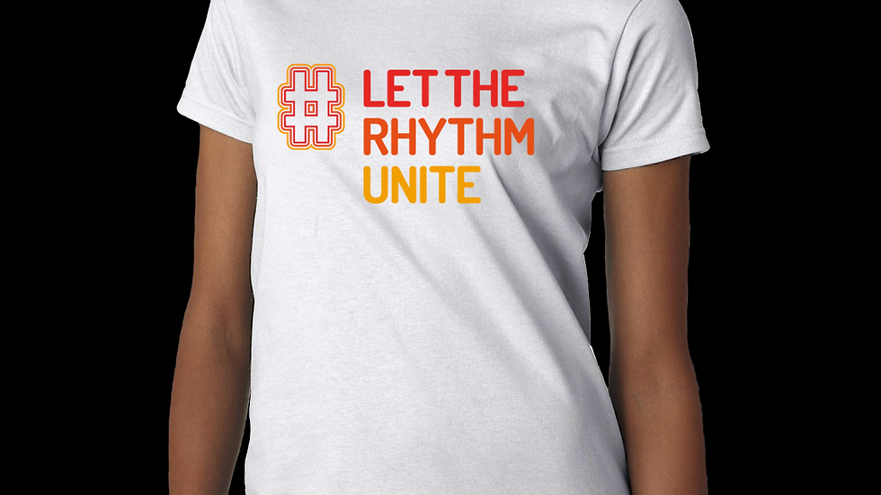 Let the Rhythm Unite White tee