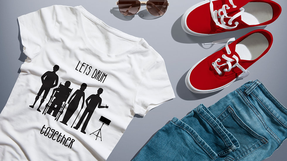 Let's Drum Together Tee