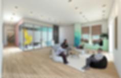 A Front Room Render + Line Work - 1 - PN
