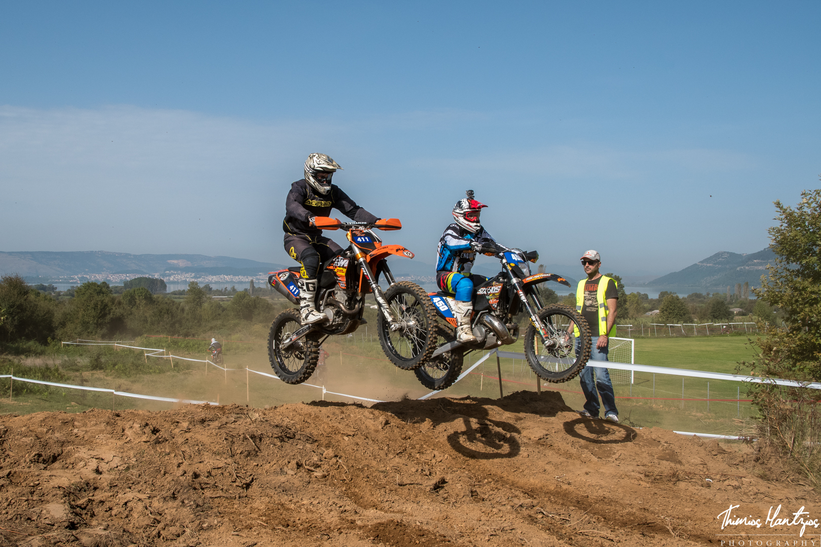 Scramble off-road motorcycle racing