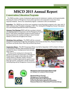 MSCD 2015 Annual Report page 5