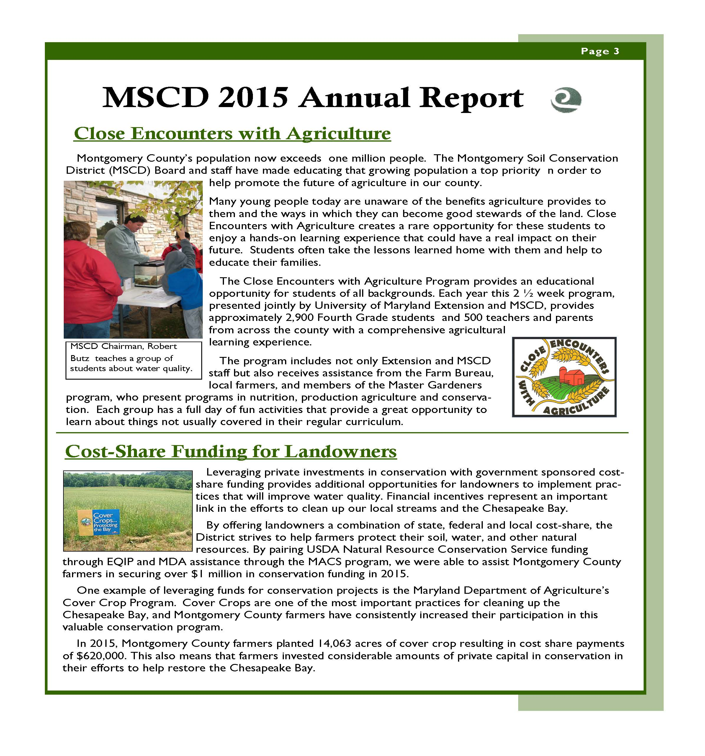 MSCD 2015 Annual Report page 3
