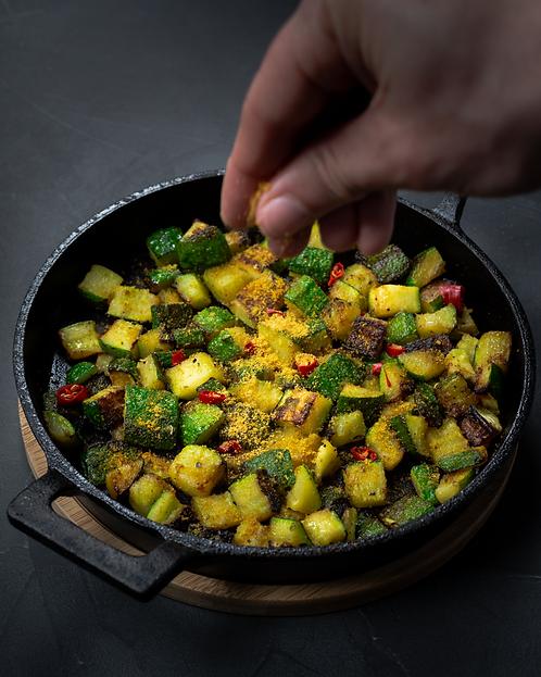 Zucchine grigliate con bottarga di muggi