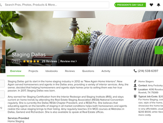 Staging Dallas Awarded Best of Houzz… Again!