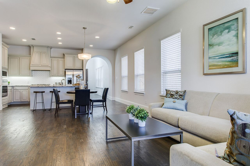 After Home Staging in Dallas Open Concept
