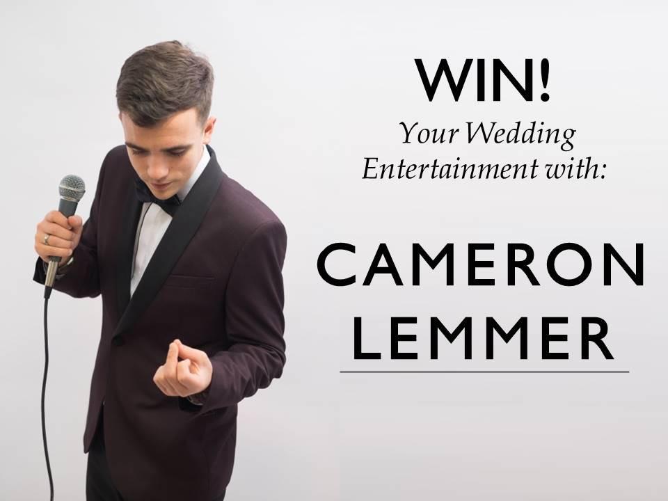 Win wedding entertainment with Devon Wedding Singer Cameron Lemmer