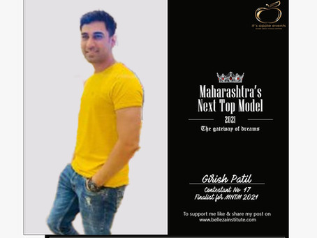Girish Patil Finalist for Maharashtra's Next Top Model 2021
