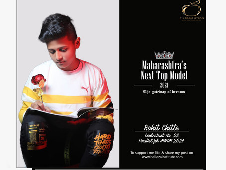 Rohit Chitte Finalist for Maharashtra's Next Top Model 2021