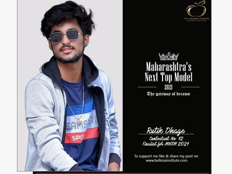 Rutik Dhage Finalist for Maharashtra's Next Top Model 2021