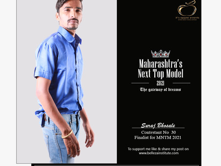 Suraj Bhosale Finalist for Maharashtra's Next Top Model 2021