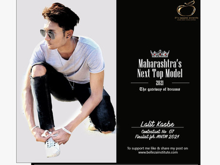 Lalit kasbe Finalist for Maharashtra's Next Top Model 2021