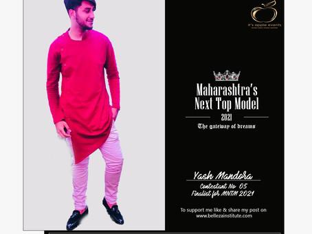 Yash Mandora Finalist for Maharashtra's Next Top Model 2021
