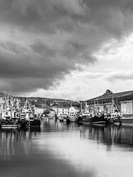 Wicklow Harbour on a calm day.