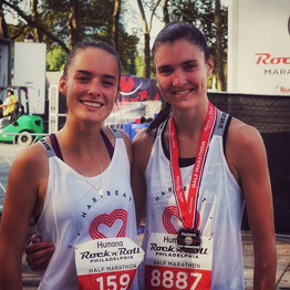 Liz and Liv 🔥 up the streets at @runroc