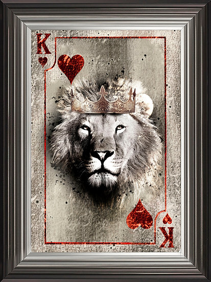 King of Hearts Playing Card in Colour