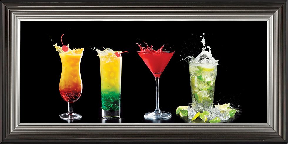 Four Tall Cocktails