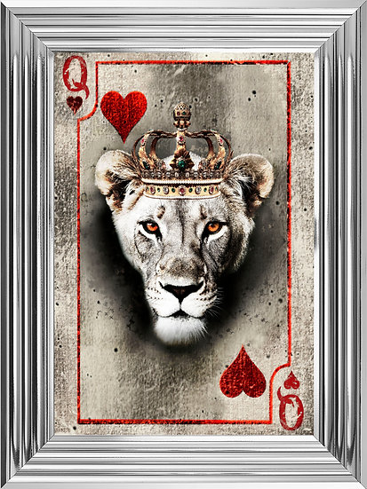 Queen of Hearts Playing Card in Colour