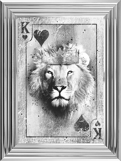 King of Hearts Playing Card in Black and White