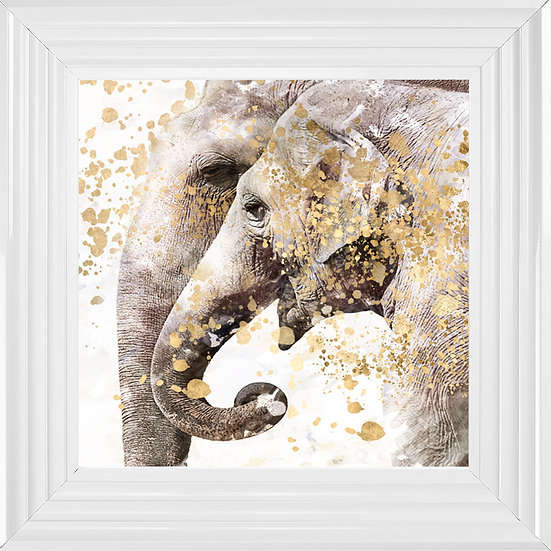 Abstract Elephants Close-up