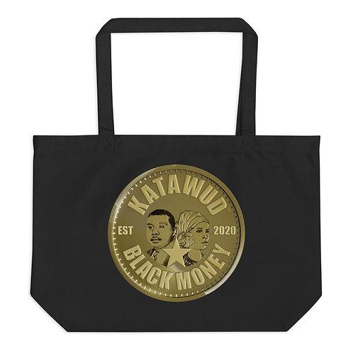 Katawud Black Money™ Gold Coin Large organic tote bag