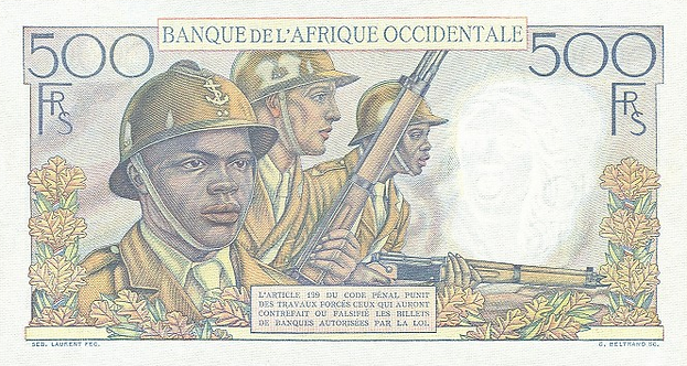 African Soldiers Serving in the French Colonial Army in World War II