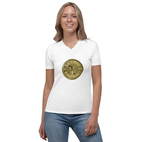 Katawud Black Money™ Gold Coin Women's V-neck