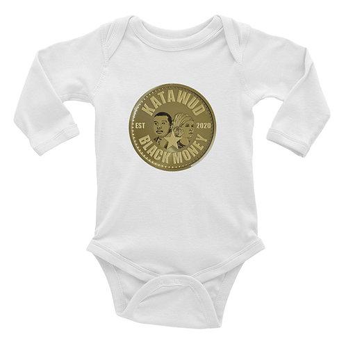 Katawud Black Money™ Gold Coin Infant Long Sleeve Bodysuit