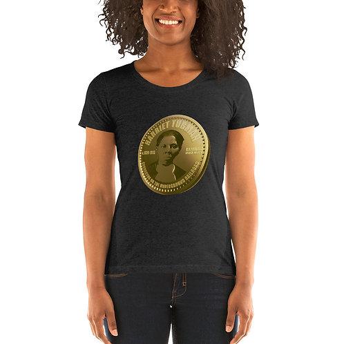 Harriet Tubman Gold Coin Ladies' short sleeve t-shirt