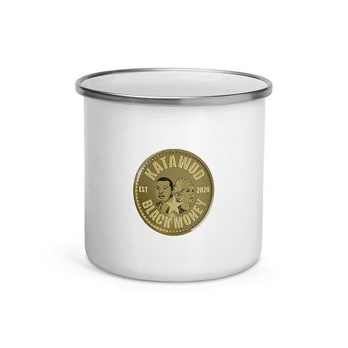 Katawud Black Money™ Gold Coin Enamel Mug