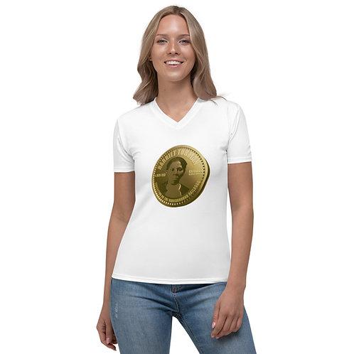 Harriet Tubman Gold Coin Women's V-neck