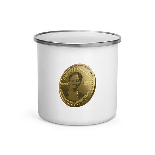 Harriet Tubman Gold Coin Enamel Mug