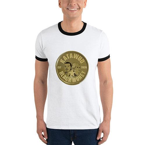 Katawud Black Money™ Gold Coin Ringer T-Shirt