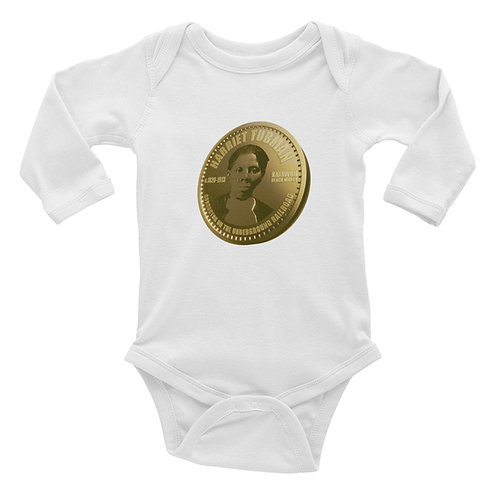 Harriet Tubman Gold Coin Infant Long Sleeve Bodysuit