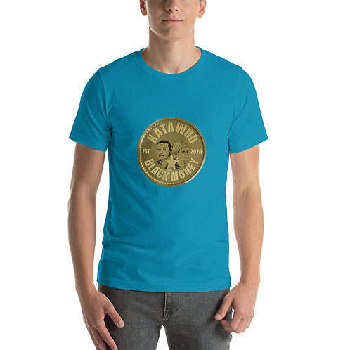 Katawud Black Money™ Gold Coin Short-Sleeve Unisex T-Shirt