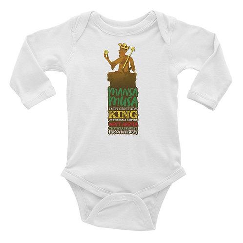 Mansa Musa Infant Long Sleeve Bodysuit