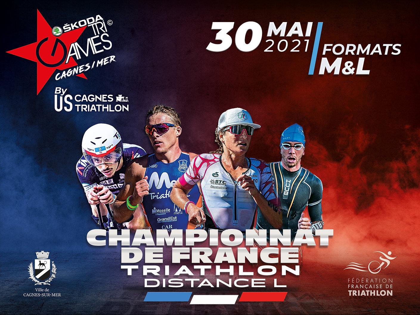 TriGames Cagnes sur Mer 2021 Championnat de France Distance L FFTRI