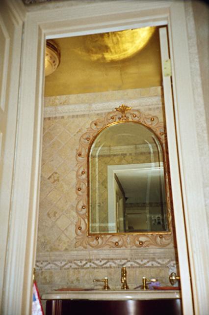 Gold Leaf Ceiling Design