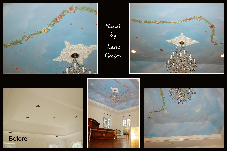 Mural Ceiling Design Little Silver N