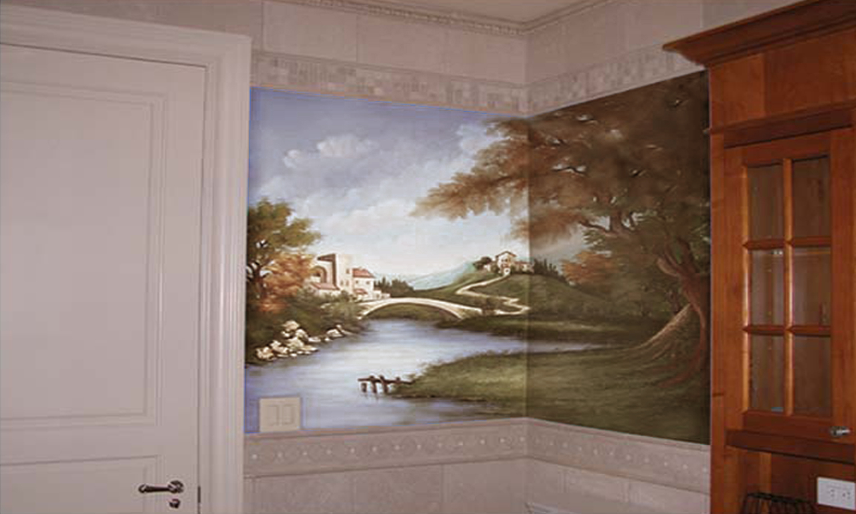 Landscape Mural Franklin Lakes NJ
