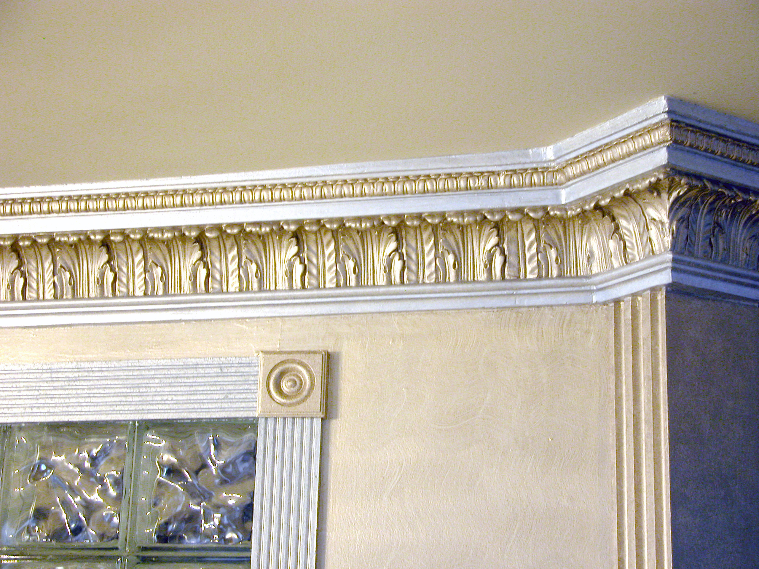 Custom Molding Design & Gold Paint