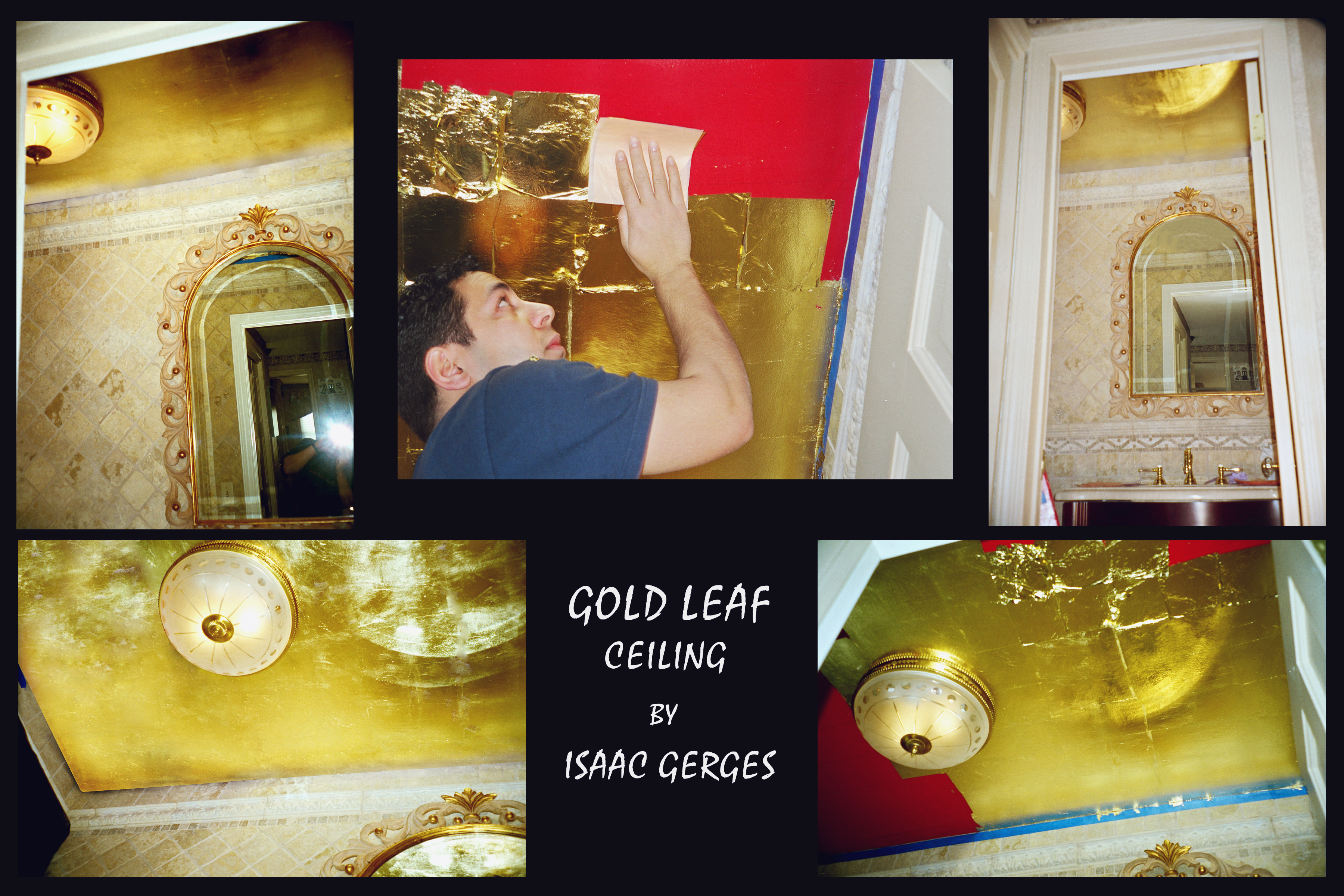 Gold Leaf Ceiling Old Westbury NY