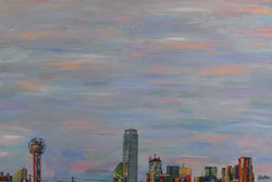 Dallas From High 24x36