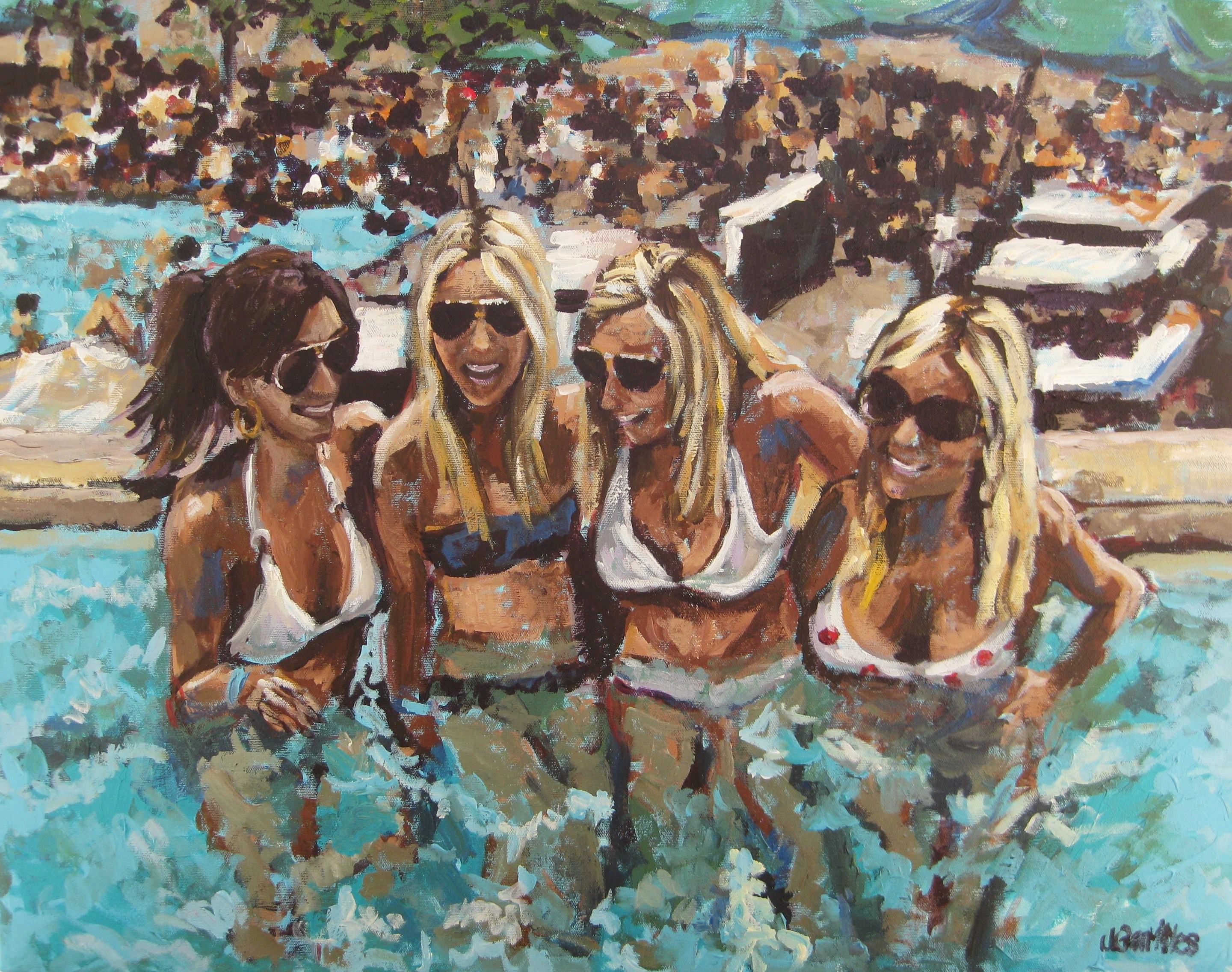 Pool Girls 24x30