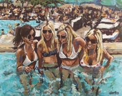 Pool Girls 24x30