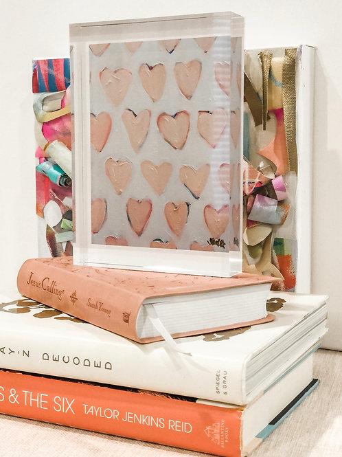 "Acrylic Block, ""Love. Repeat. (Pink)"