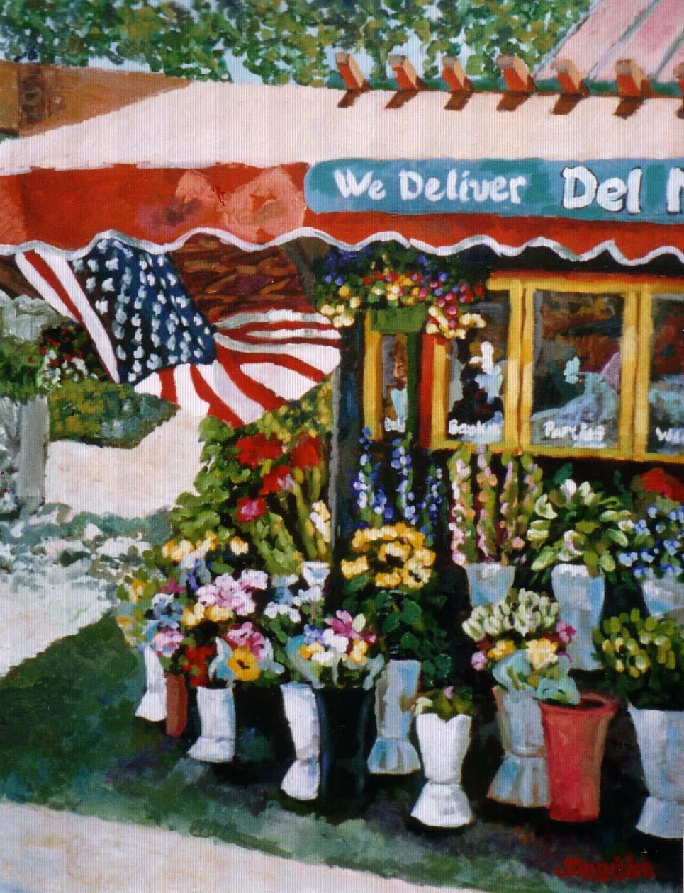 Del Mar Flowers 24x30