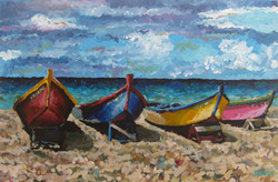 Beached Boats 20x30
