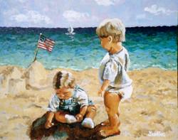 Beach Baby No 17 16x20