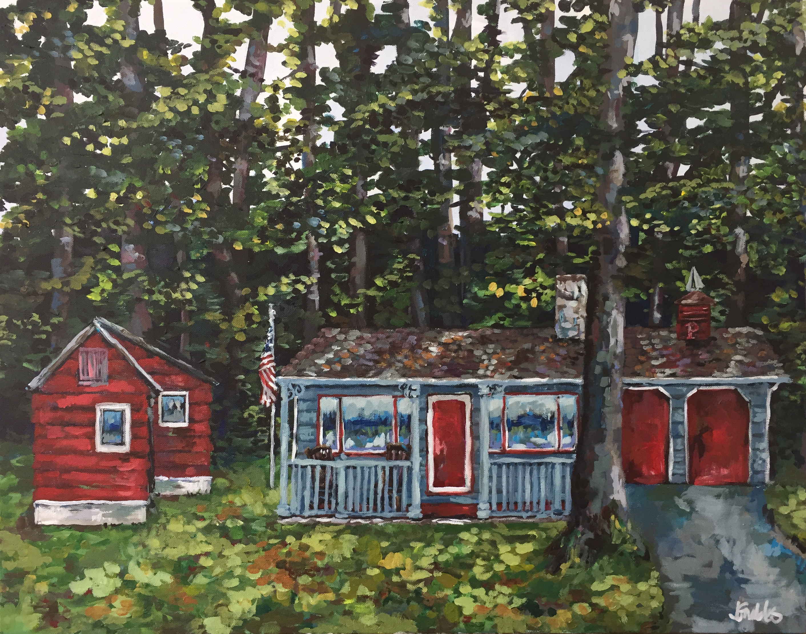 Keewenaw Bay House 22x28