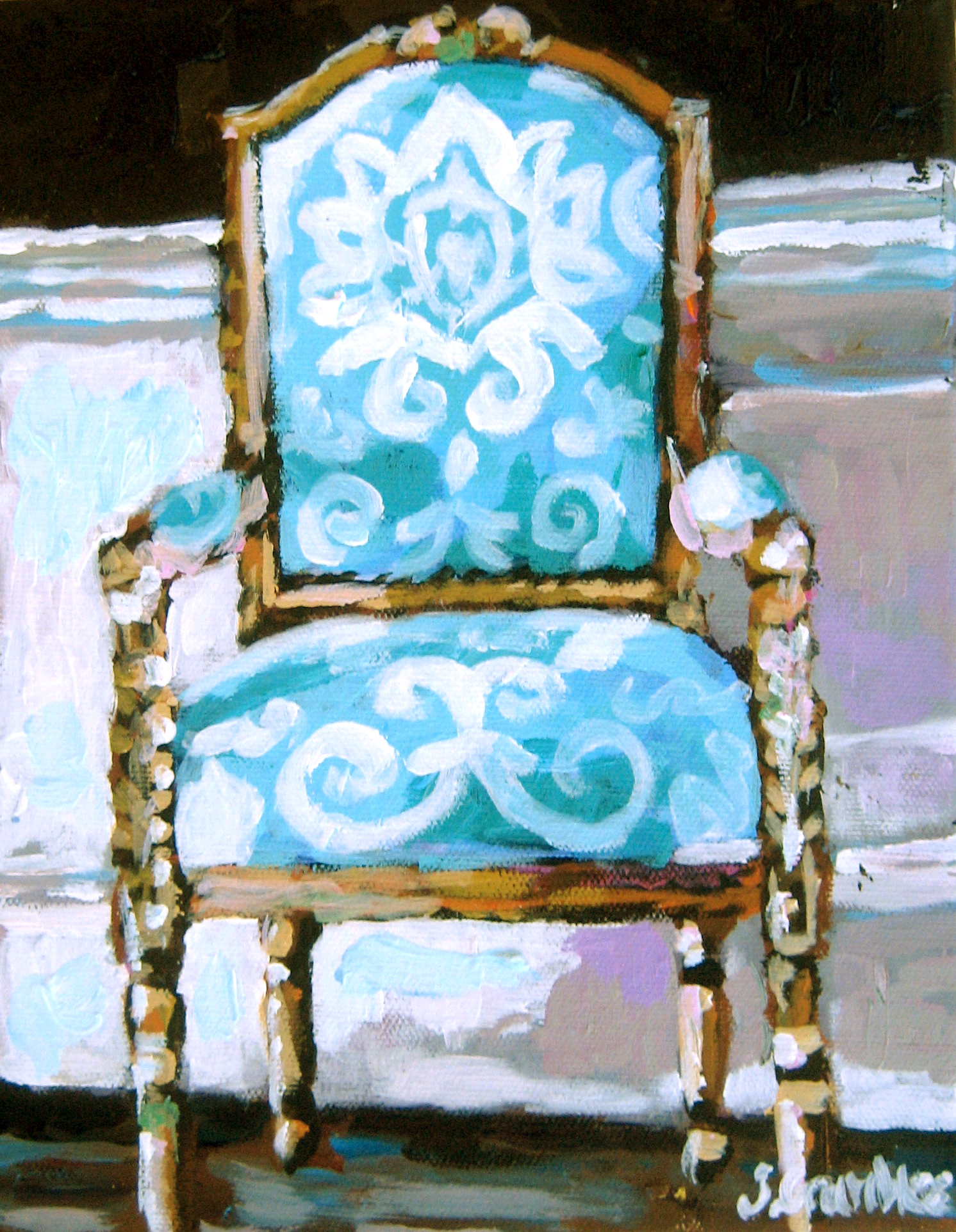 Damask Chair 8x10